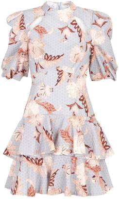 Thurley Folklore Puff Sleeve Floral Dress