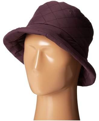 Scala Quilted Rain Bucket Hat w/ Fleece Lining Caps