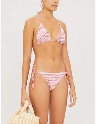 Missoni Ondina triangle high-leg knitted bikini set