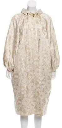 Dolce & Gabbana Long Brocade Coat