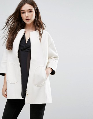 Lavand Swing Coat In White $106 thestylecure.com
