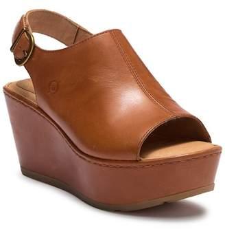 Børn Orbit Leather Wedge Sandal