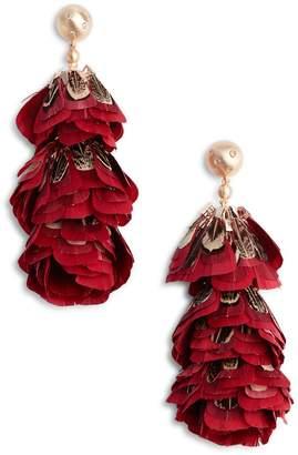 Kendra Scott Lenni Tiered Feather Earrings