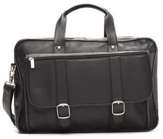 David King & CO Expandable Laptop Leather Briefcase