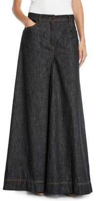 Brunello Cucinelli Jean Maxi Skirt Pants