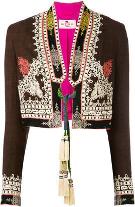 Etro tassel tie cropped jacket