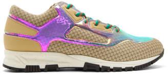 Lanvin Beige Iridiscent Sneakers