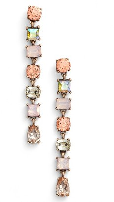 Women's Sole Society Crystal Shoulder Duster Earrings $34.95 thestylecure.com