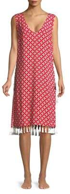 MICHAEL Michael Kors Geometric Tassel Cover Up
