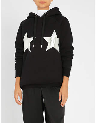 Good American Stars Stripes cotton-jersey hoody