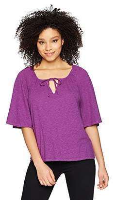 Three Dots Women's eco Knit Short Loose Peasant top
