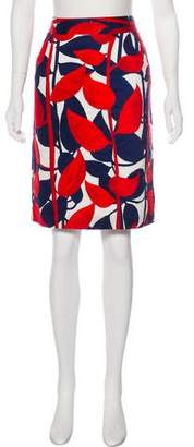 Milly Abstract Print Skirt