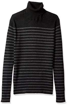 Vince Men's Bretton Stripe Cashmere Turtleneck Sweater