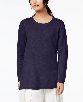 Eileen Fisher Organic Linen Blend Marled Sweater