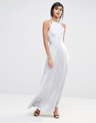 Vero Moda Satin Maxi Dress $64 thestylecure.com