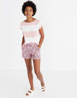 Madewell Pull-On Shorts in Oasis Palms