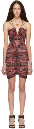 Isabel Marant Red and Black Wilma Dress