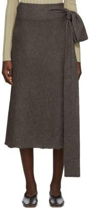 LAUREN MANOOGIAN Brown Tie Skirt