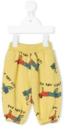Bobo Choses cat & dog print track pants