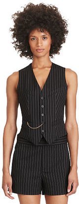 Polo Ralph Lauren Pinstriped Stretch Wool Vest $198 thestylecure.com