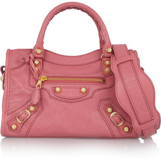 Balenciaga - Giant 12 City Mini Textured-leather Shoulder Bag - Pink $1,395 thestylecure.com