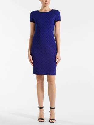 St. John Micro Geo Blister Knit Dress