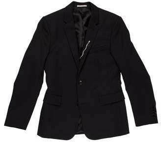 Christian Dior Rose-Embroidered Wool Two-Button Blazer