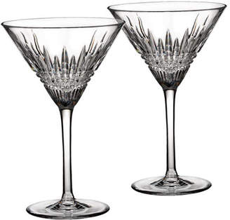 Waterford Crystal Lismore Diamond Martini Glasses Set of 2