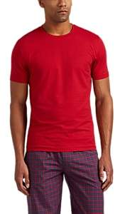 Zimmerli Men's Ribbed Stretch-Cotton T-Shirt - Red