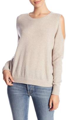 Minnie Rose Cold Shoudler Cashmere Sweater