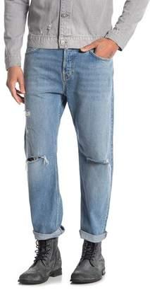 AllSaints Danvers Sid Straight Leg Crop Jeans