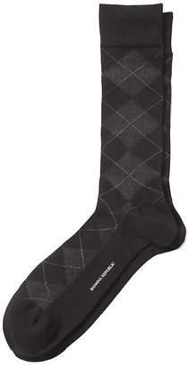 Banana Republic Luxe Birdseye Argyle Sock