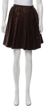 J. Mendel Pleated Brocade Skirt w/ Tags
