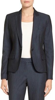 Women's Anne Klein Twill One-Button Jacket $129 thestylecure.com