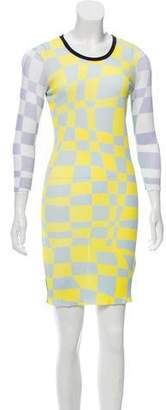 Iceberg Printed Ribbed Dress