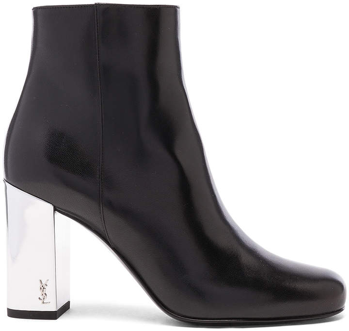 Saint Laurent Leather Babies Pin Boots