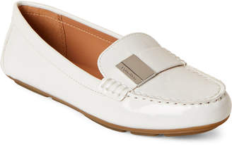 Calvin Klein White Lisa Patent Driving Loafers