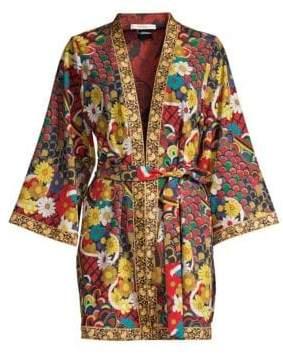 Alice + Olivia Lynn Side Slit Short Kimono