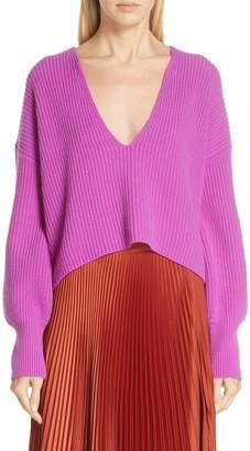 A.L.C. Melanie Plunging Merino Wool Sweater