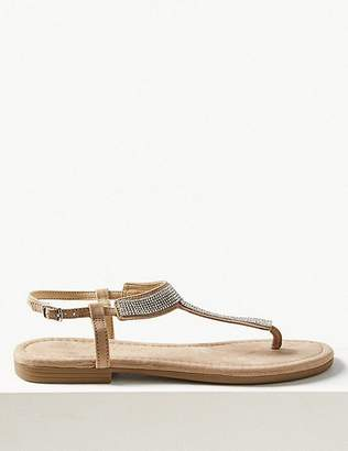 Marks and Spencer T-Bar Embellished Sandals