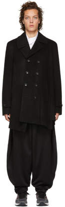 Comme des Garcons Black Wool and Cashmere Coat