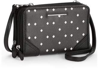 Time and Tru Rebecca Double Zip Around Wallet on a String