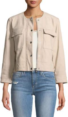 Parker Joey Zip-Front Leather Jacket