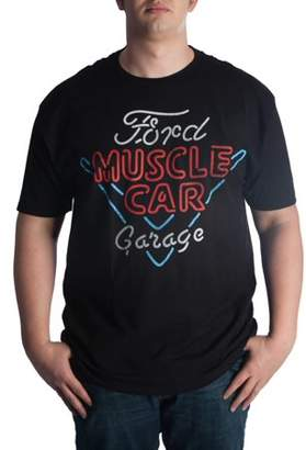 Automotive Big Men's ford muscle car garage graphic tee, up to 6xl
