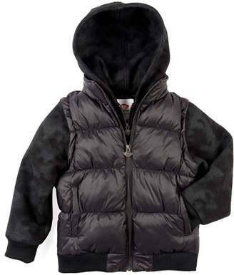 Appaman Turnstile Hooded Quilted Jacket w/ Zip-Off Sleeves, Size 2-10