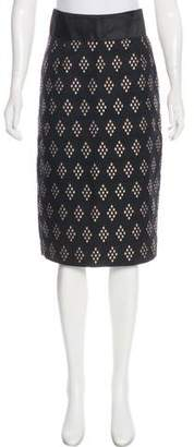 Alessandro Dell'Acqua Abstract Print Knee-Length Skirt