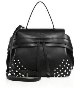 Tod's Wave Mini Pebbled Leather Crossbody Bag