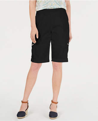 Style&Co. Style & Co Petite Comfort-Waist Bermuda Shorts, Created by Macy