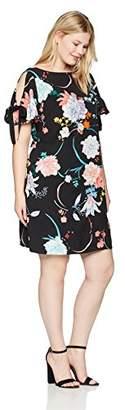 Adrianna Papell Women's Size Plus Zen Blossom Shift Dress