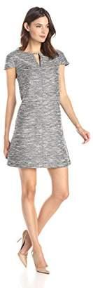 Lark & Ro Women's Cap Sleeve Tweed Shift Dress